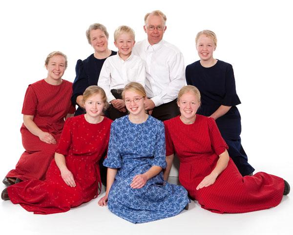 Jay and Esther Burkholder & family